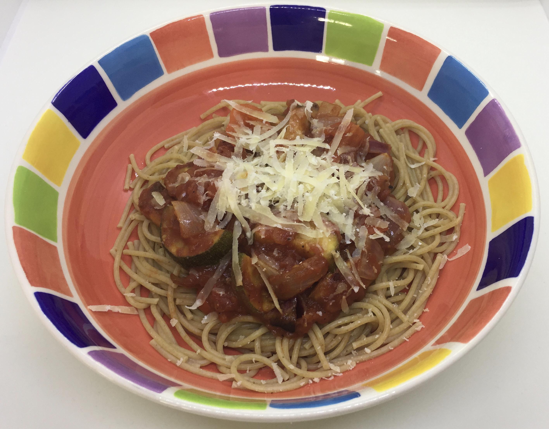 Lazy roast vegetable pasta